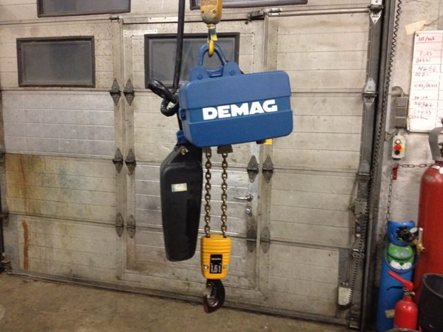6589 - Electric Chain Hoist - DEMAG - 1600kg