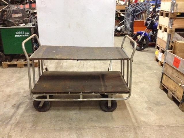6708 - Rolling Wagon - Rolling Table with Rubber Wheels