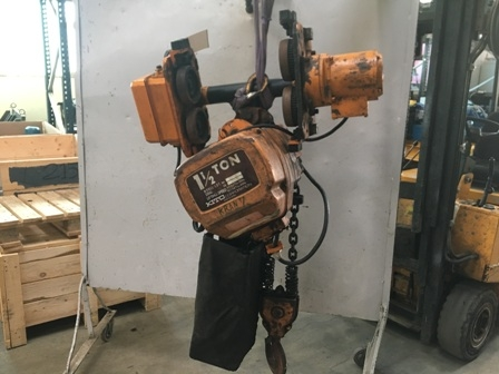 7611 - Electric chainhoist, 3 ton with trolley